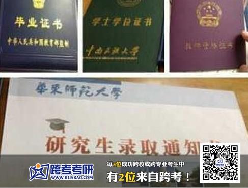 华东师范大学2013年考研录取通知书 跨考优秀学员