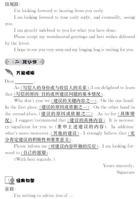 考研英语应用文万能模板及经典句型
